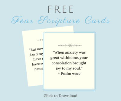 Fear Scripture Cards