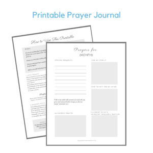 Printable Prayer Journal