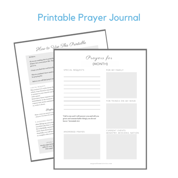 Printable Prayer Journal
