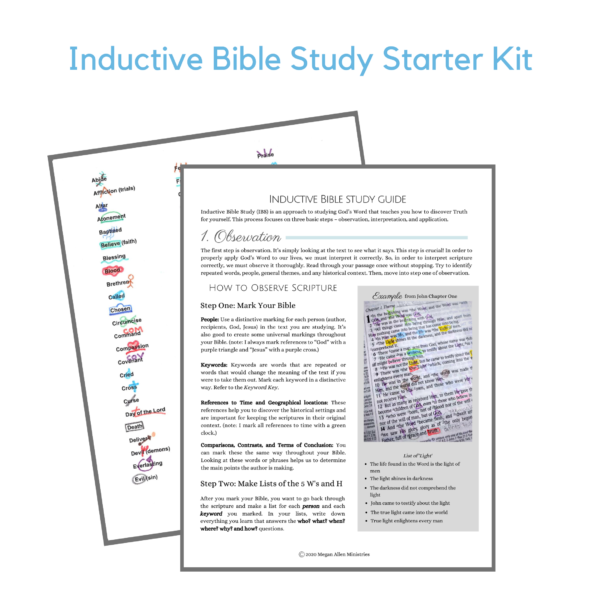 Inductive Bible Study Printables
