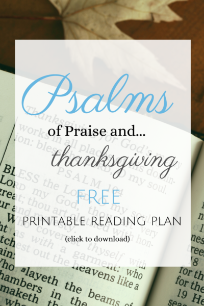 Psalms of Praise and Thanksgiving