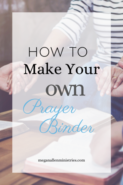 Steps for how to make a prayer binder