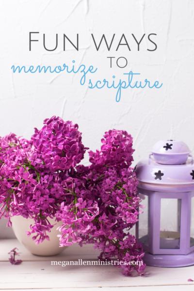 Ways to Memorize Scripture