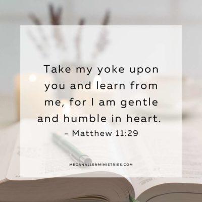 Bible verse about humility Matthew 11