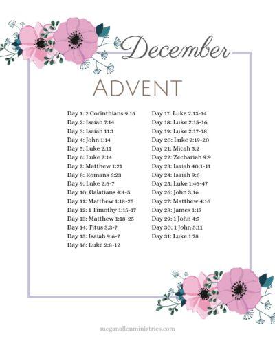 Bible Verses for Christmas Printable