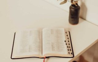 Word of God sitting on table