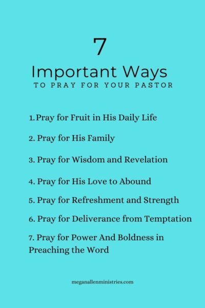 7 Ways to Pray for Your Pastor