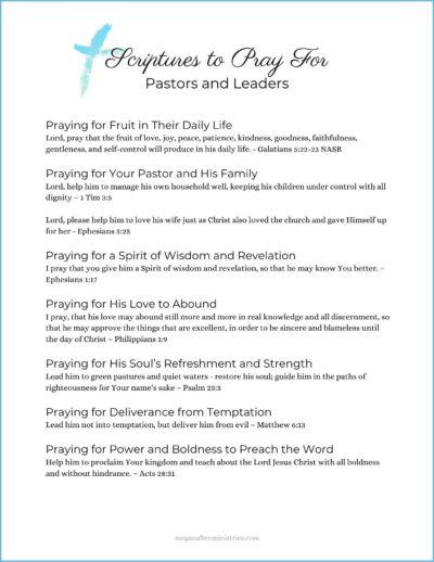 Scripture Prayers for Pastors and Leaders PDF